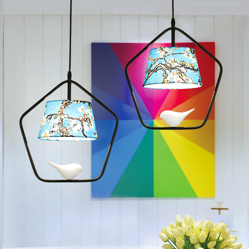 где купить American aisle Home Restaurant pendant light balcony modern minimalist Scandinavian birds hanging lamp entrance lamps ZA71017 по лучшей цене