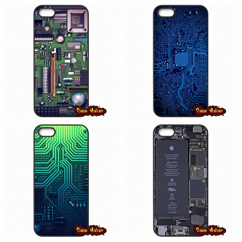 Computer Battery Phone Circuit Board Caes Cover For Samsung Galaxy S3 S4 S5 Mini S6 S7 Edge