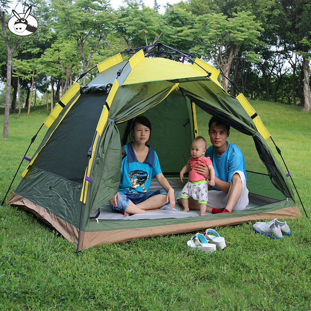 3 4persons Fully Automatic Outdoor Camping Tent Tourism Family With Promotion Price Hot