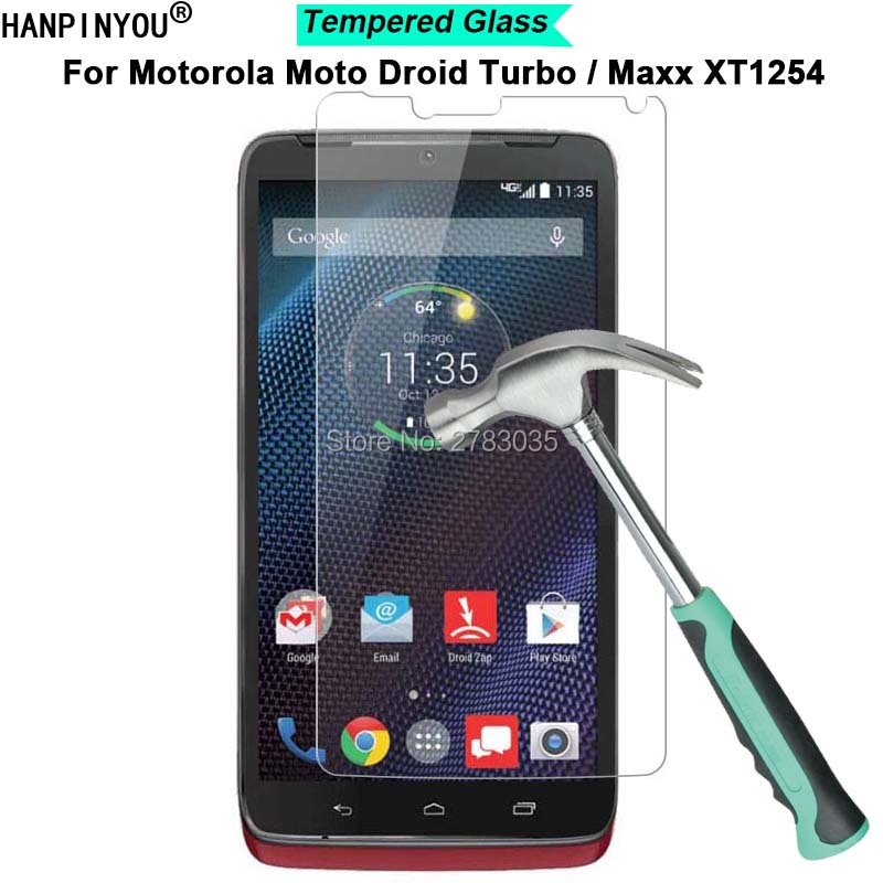 For Motorola Moto Maxx XT1225 / Droid Turbo XT1254 5.2 9H Hardness 2.5D Toughened Tempered Glass Film Screen Protector Guard image