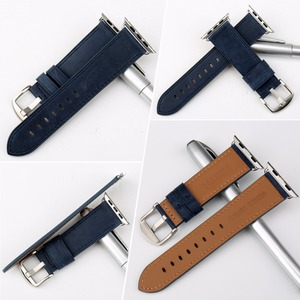 Image 2 - MAIKES רצועת השעון כחול החלפה עבור אפל שעון להקת 44mm 40mm 42mm 38mm סדרת 4/3/2/1 iWatch צמיד אפל שעון רצועה
