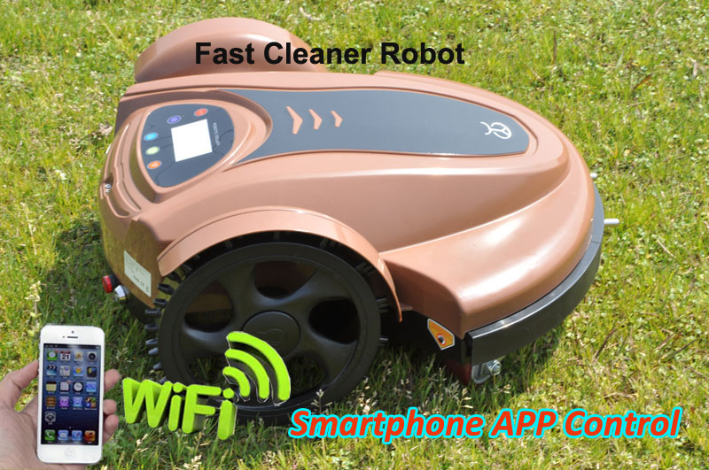 Smartphone WIFI App Robot Grass Mower TC-158N With Leadacid Battery and Newest And Water-proofed Charger,CE&ROHS the cheapest robot lawn mower tc 158g with leadacid battery auto recharge remote control free shipping