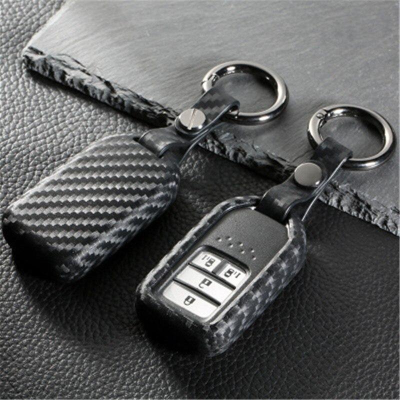 Peacekey In fibra di Carbonio dell'automobile della gomma di silicone caso della copertura fob chiave a distanza per Honda 2016 2017 CRV Pilot Accord Civic Fit Freed keyless