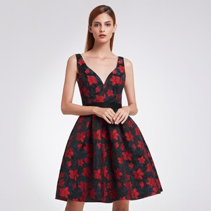 Image 4 - 2020 New Fashion Retro Off Shoulder Ever Pretty EP05947 Dresses Womens Flare Party Dresses Floral Print robe Cocktail Dresses