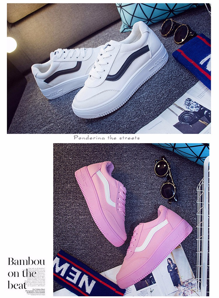 Free Shipping 2016 New Fashion Women Casual Shoes Comfortable Lace-up Woman Flats Classic Round Toe Sports Shoes ST427 (9)
