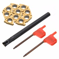 New SNR0010K11 Lathe Boring Bar Turning Tool Holder With 10pcs 11IR A60 Inserts Blades