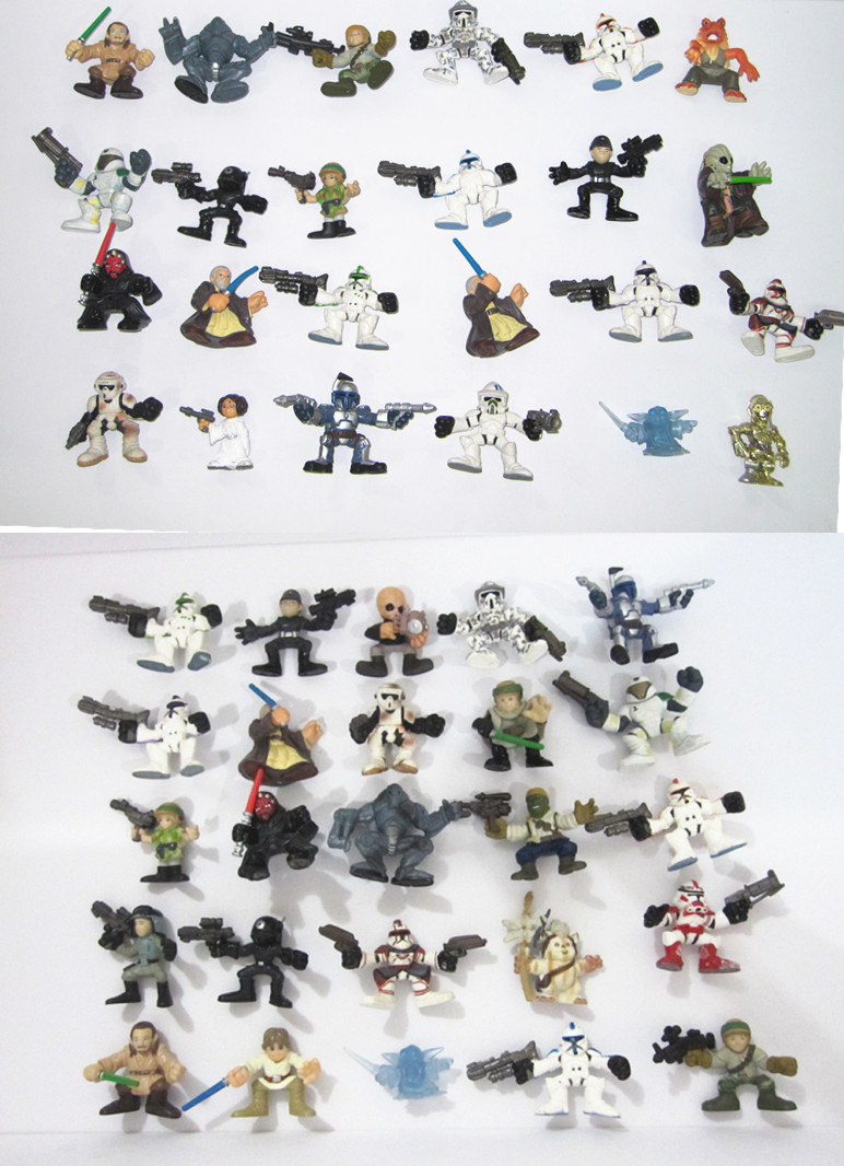 new LOT OF 2STAR WARS GALACTIC HEROES RANDOM PICK Action FIGURE LOOSE toys gift christmas - super toy store