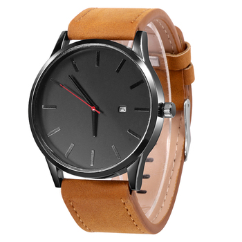 Quartz Sport Leather Strap Wristwatch 3