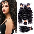 100% Remy Sin Procesar 7a grado del pelo de la onda profunda brasileña barata onda profunda virgin hair bundles 3 piezas de la onda profunda humano pelo
