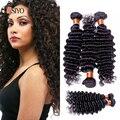 100% Remy Unprocessed grade 7a deep wave hair cheap brazilian deep wave virgin hair bundles 3pieces deep wave human hair