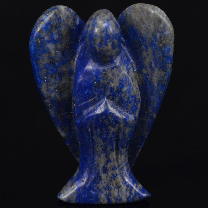2 Inch Natural Lapisr Gems Carving Angel Statue Lucky Crafts Stone Figurine Chakra Healing Reiki Stone