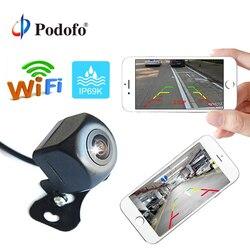 Podofo Draadloze Auto Achteruitrijcamera WIFI Omkeren Camera Dash Cam HD Nachtzicht Mini Body Tachograaf voor iPhone en android