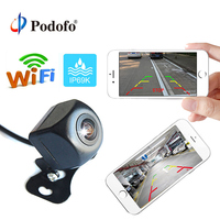 Podofo Wireless Car Rear View Camera WIFI Reversing Camera Dash Cam HD Night Vision Mini Body Tachograph for iPhone and Android