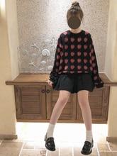 秋の新原宿女性セーター 2018 韓国かわいいイチゴセーターかわいい甘いヴィンテージオーバーサイズのニットプルオーバーセーター