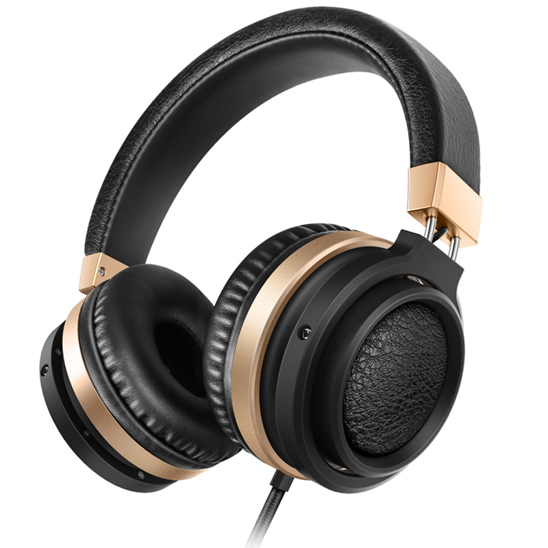Sound Intone C1 Stereo Bass Over Ear Headphones with Microphone HiFi Sound Music wired Headset for