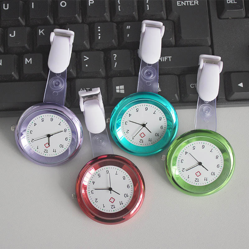 Nurse Watch Brooch Silicone Clip Infection Control Design Nurse Doctor Paramedic Brooch Fob Watch LXH