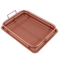 13inch Copper Air Fryer Copper Crisper Food Frying Basket Tray Non Stick Oil Filter Mesh Grill