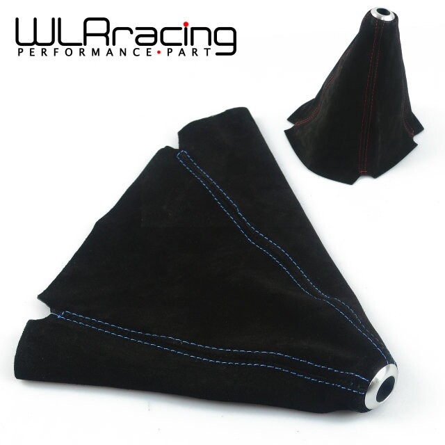 f0d9b27f3 WLR RACING-Suede cuero rojo azul JDM puntada cambio Shifter Boot Cover  MT AT WLR-SBC11
