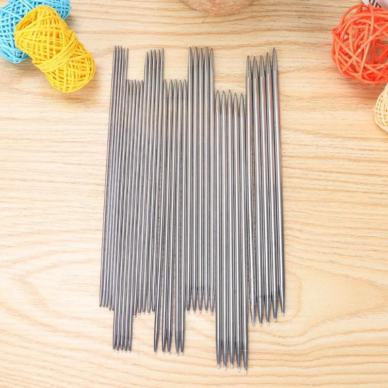35pcs Stainless Steel Straight Knitting Needle DIY Crochet Hooks Sewing Needles
