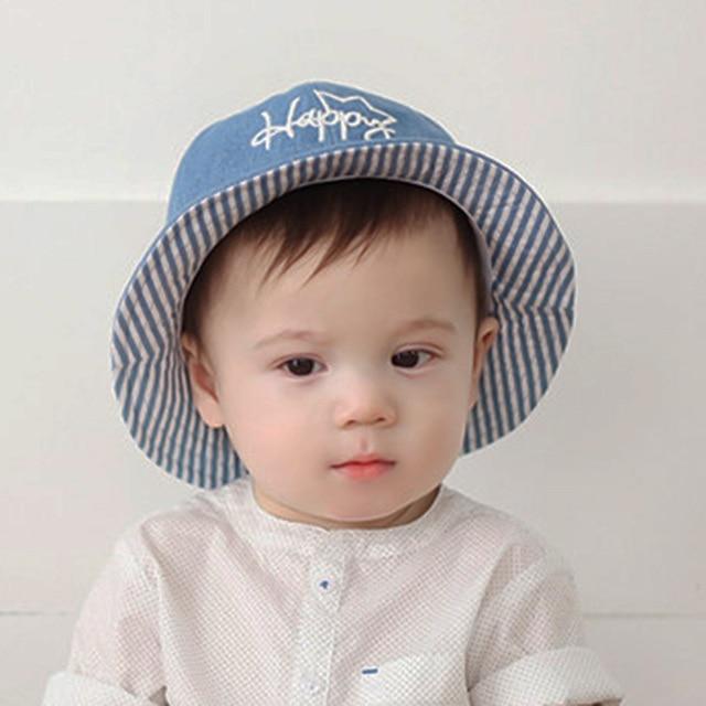 975adb9326c Autumn Winter Baby Girl Hats Newborn Sun Hat Cute Happy Fisherman Cowboy  Kids Cap Photography Props