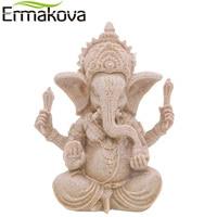 NEO Buddha Statue Vintage Thailand Fengshui Elephant Sculpture Natural Sandstone Ganesha Figurine Home Desk Decor Gift