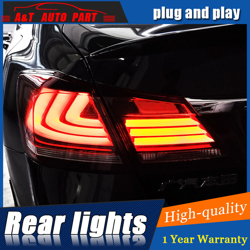 Car Styling Accessories for Honda Accord LED Taillights 2011-2014 for Accord Tail Lamp Rear Lamp DRL+Brake+Park+Signal led