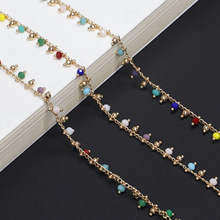 Colorful Acrylic Beads Sunglasses Spectacle Chains Women Reading Glasses Cord Holder Neck Strap Rope