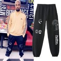 2019 New Kanye West Pants High Quality Streetwear Hip Hop Mens Joggers Pants Kanye West Sweatpants Season 5 Track pants men