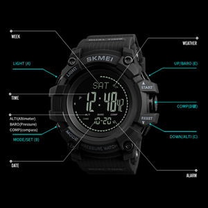 Image 5 - SKMEI Brand Mens Sports Watches Hours Pedometer Calories Digital Watch Altimeter Barometer Compass Thermometer Weather Men Watch