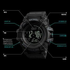 Image 5 - SKMEI מותג Mens ספורט שעונים שעות מד צעדים קלוריות הדיגיטלי מד מדחום מזג אוויר גברים שעון