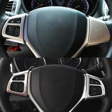 2014 15 16 17 2018 Per Suzuki SX4 S-Cross di guida a Sinistra del Volante Dell'automobile Buttom Telaio di Copertura trim Accessori auto-styling