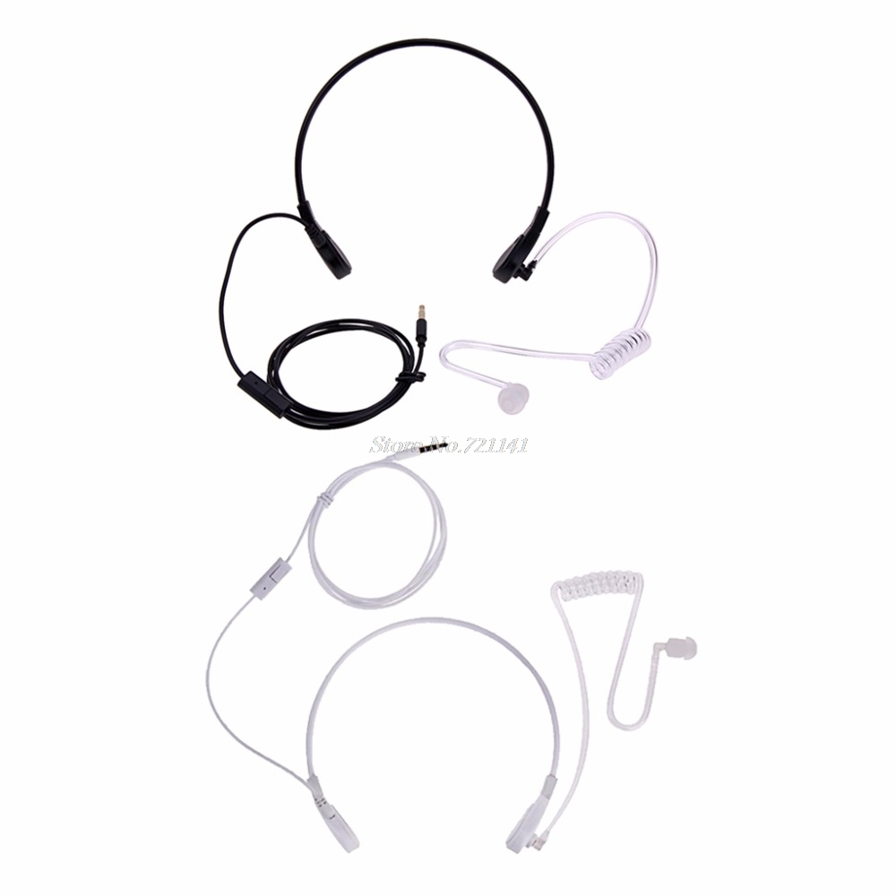 3.5mm Throat MIC Headset Covert Acoustic Tube FBI Earphone For CellPhone Electronics Stocks