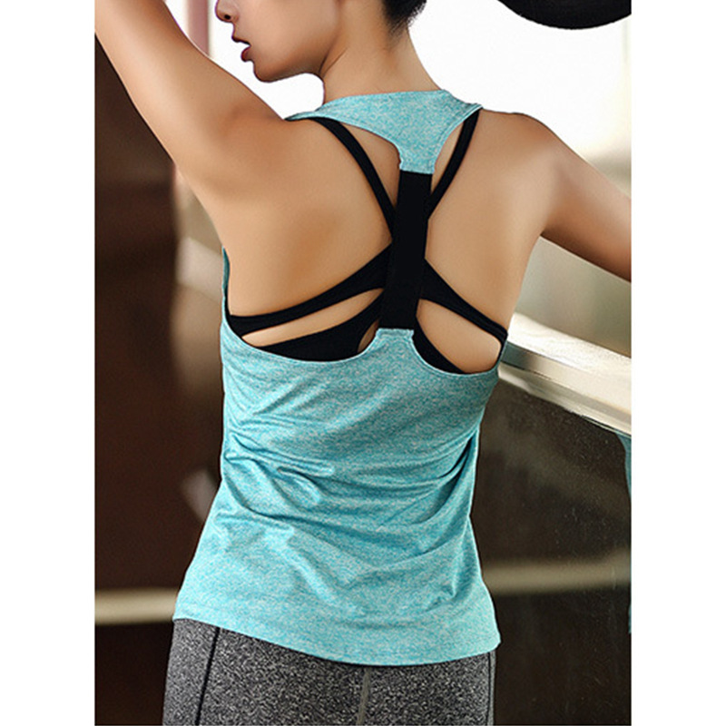 Comfortable Women Yoga Top Gym Comfortable Sports Sleeveless T Backless Shirts Sport Fitness Shirts Running Clothes Singlets in Yoga Shirts from Sports Entertainment