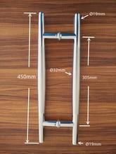 Diametro di alta qualità 32*450mm spaziatura foro 305mm di diametro Variabile SUS 304 Acciaio inossidabile spazzolato Maniglia tirare
