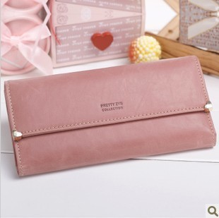 2015 Hot Sale Fashion Purse Vintage Leather Women Wallets long elegant carteira feminina Women Clutch