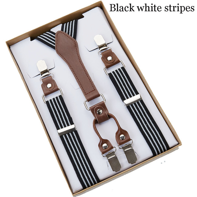 4 Clip Men's Suspenders Men Braces 4