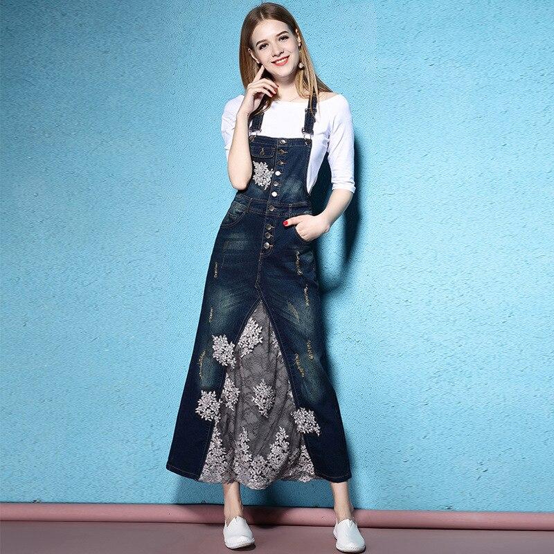 b5ed9e3dee 2018 Spring and Summer women dress long Fashion denim Gauze Longuette  Straps dress and T-shirt Twinset NW17B1028 ~ Super Deal July 2019
