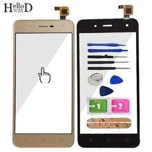 5 الهاتف المحمول اللمس الزجاج ل BQ BQ 5057 سترايك 2 BQ 5057 شاشة تعمل باللمس الزجاج الأمامي لوحة مرقمة أدوات الاستشعار لاصق