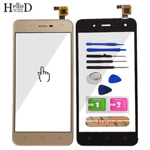 5 Mobile Phone Touch Glass For BQ BQ 5057 Strike 2 BQ 5057 Touch Screen Front Glass Digitizer Panel Sensor Tools Adhesive