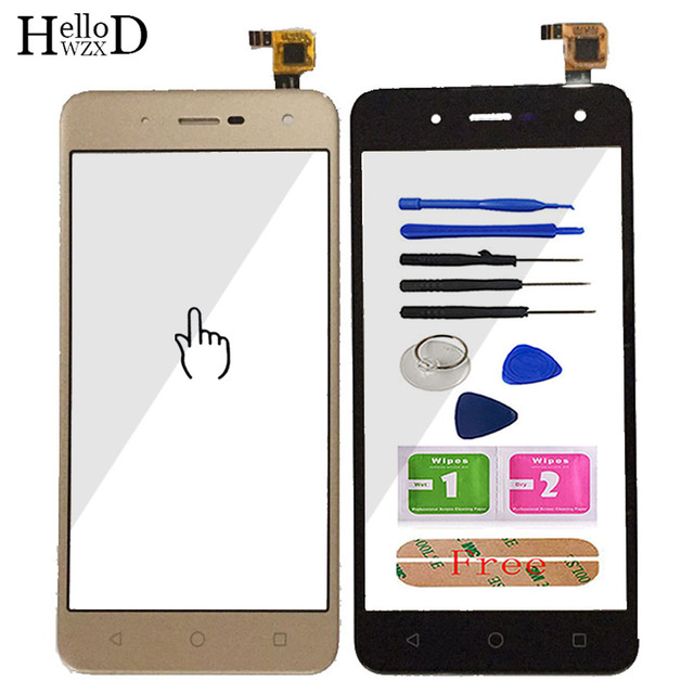 Toque De Vidro Do Telefone móvel Para BQ BQ 5057 5 Greve 2 BQ 5057 Digitador de Vidro Do Painel Frontal Da Tela de Toque Do Sensor ferramentas Adesivo