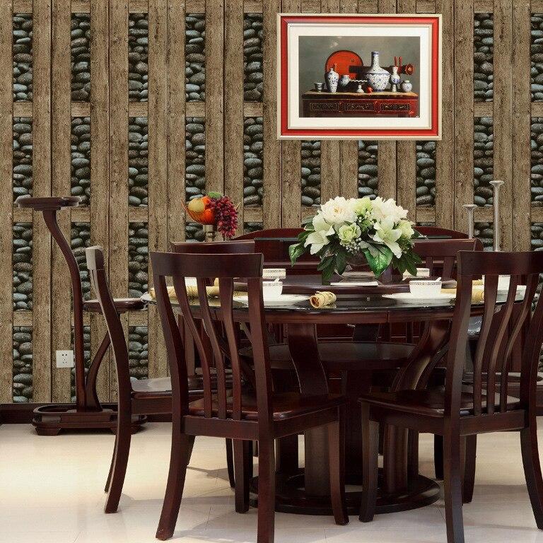 acquista all'ingrosso online 3d pannelli di legno da grossisti 3d ... - 3d Sfondo Del Pannello Di Legno Moderno Vinile Carta Da Parati Per Soggiorno
