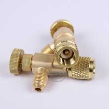 Válvula de aire acondicionado de refrigeración R410/R22, válvula de seguridad de flúor, accesorios de adición de líquido, herramienta de refrigeración para el hogar