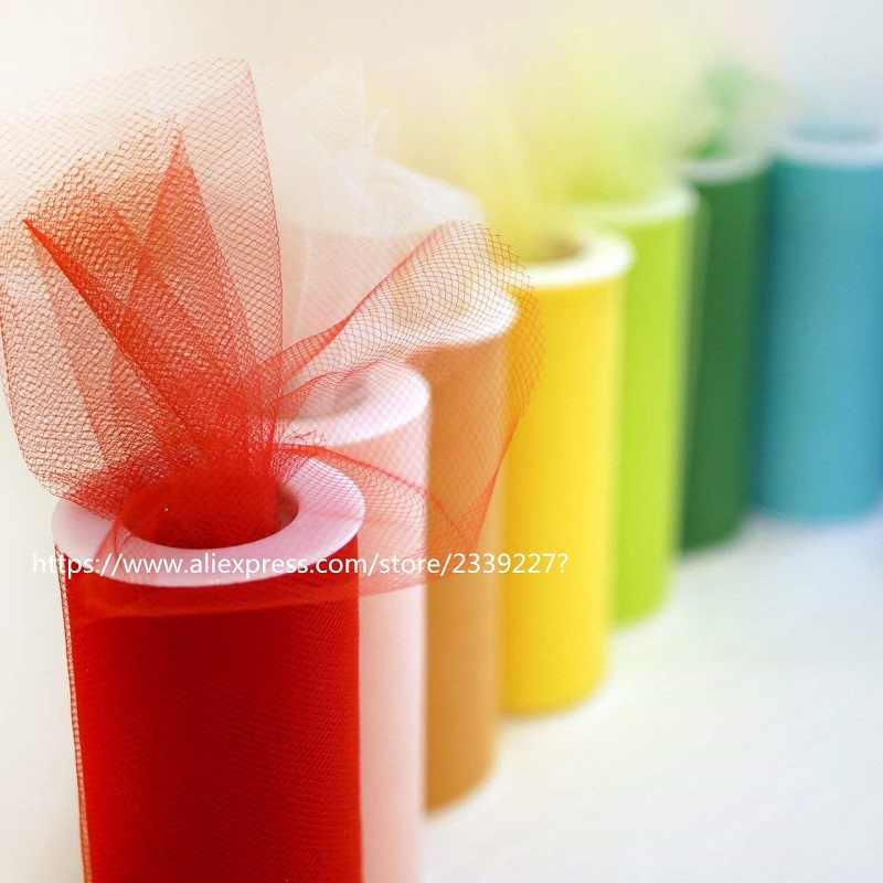 ... 25Yard 15cm Tulle Roll Crystal Fabric Organza Tulle Roll Spool Wedding  Decoration Birthday Party Kids Baby ... 5d858b2cd960