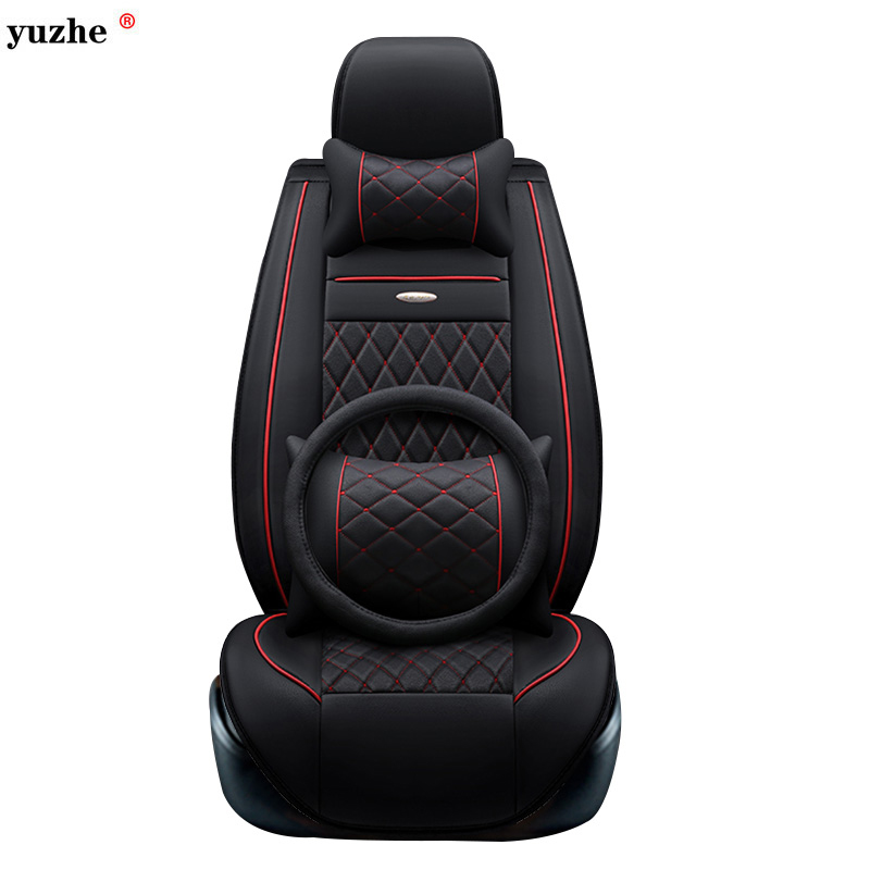 Yuzhe leather car seat cover For Toyota Honda Nissan Mazda Lexus Jeep Subaru Mitsubishi Suzuki Kia Hyundai Ssangyong accessories kkysyelva universal leather car seat cover set for toyota skoda auto driver seat cushion interior accessories