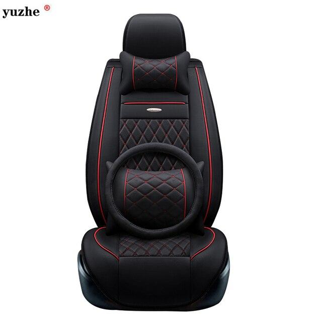 Yuzhe leather car seat cover For Toyota Honda Nissan Mazda Lexus Jeep Subaru Mitsubishi Suzuki Kia Hyundai Ssangyong accessories