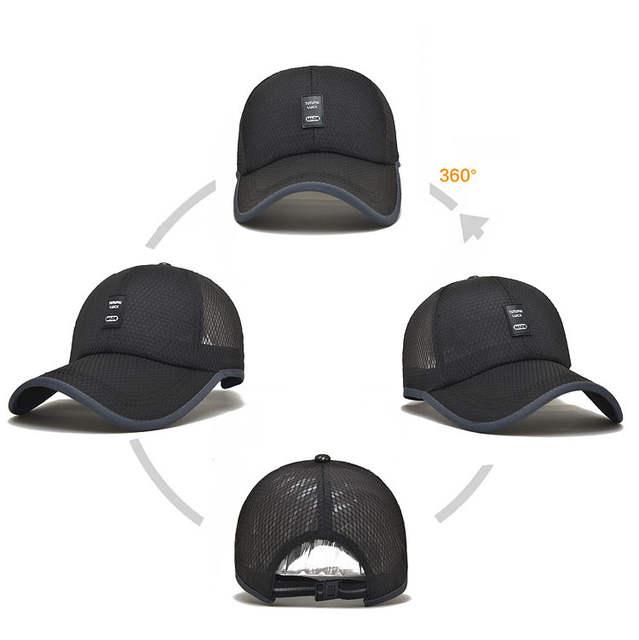 bd1ed00331f  AETRENDS  Summer hat mesh male baseball cap russia black sports caps for  men stranger