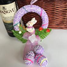 Easter Bunny Floral Garland Wreath
