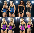 Ann Chery Style black underbust rubber waist body shaper sexy women Deportiva Latex Waist Cincher steel bone corset top