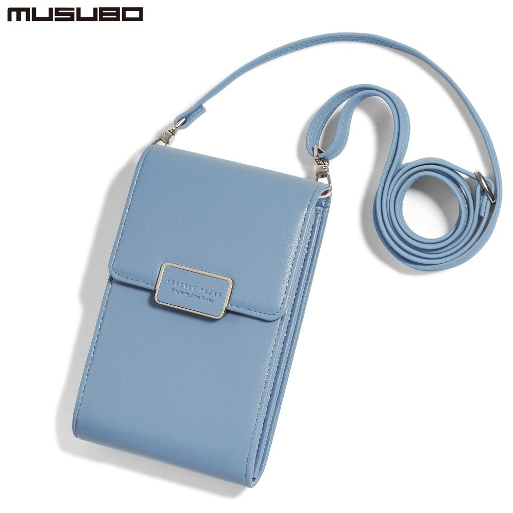 dd14aa861 MUSUBO qzx-671 famosa marca Mini bandolera bolsas para las mujeres bolsa de  teléfono para el iPhone para Samsung pequeña mujer hombro bolsos