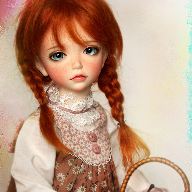 New Arrival 1/6 BJD Doll BJD/SD Fashion Lonnie With Fleckles LOVELY Doll For Baby Girl Birthday Gift Free Shipping 1